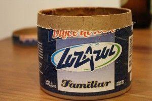 Dulce de leche Luz Azul viene en envase de cartón y de plástico